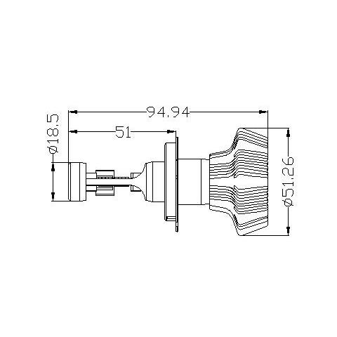 Набір світлодіодного головного світла UP-7HL-H4W-4000Lm (H4, 4000 лм, холодний білий) Прев'ю 4