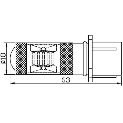 Противотуманная LED лампа UP-7G-P13WB-30W (белая, 12-24 В) - Просмотр 2