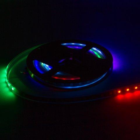 Tira de luces LED  SMD5050, WS2812B (con controles, IP67, 5 V, 30 diodos LED/m, 5 m) - Vista prévia 3