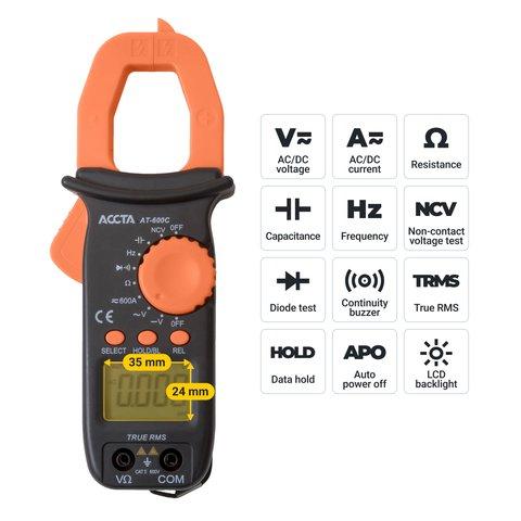 Digital Clamp Meter Accta AT-600C Preview 2
